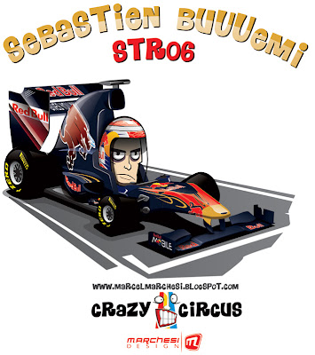 Себастьян Буэми Toro Rosso STR06 2011 карикатура Crazy Circus Marchesi Design
