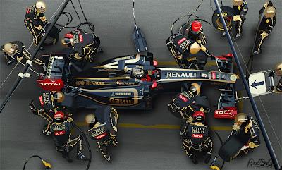 пит-стоп Lotus Renault Ник Хайдфельд