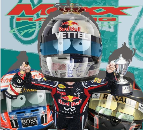 Дженсон Баттон Себастьян Феттель Ник Хайдфельд Maxx Racing по гонке Гран-при Малайзии 2011