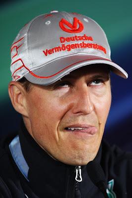 Михаэль Шумахер на пресс-конференции в четверг на Гран-при Китая 2011