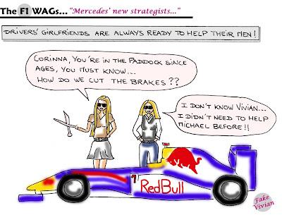 Вивиан Сиболд и Коринна Шумахер готовы перерезать тормоза Red Bull ради своих мужчин комикс TheF1Wags