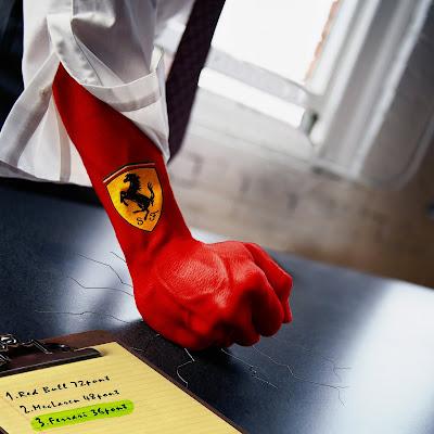 body art Ferrari GO после Гран-при Китая 2011