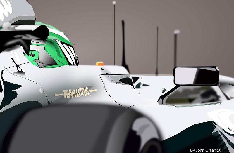векторный Lotus Хейкки Ковалайнена на Гран-при Китая 2011