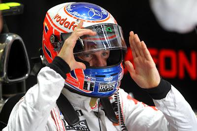 Дженсон Баттон в роли Циклопа из Людей Икс на Гран-при Турции 2011
