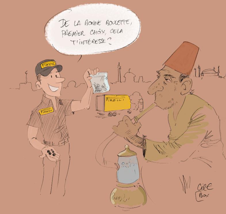 комикс Cirebox про резину Pirelli на Гран-при Турции 2011