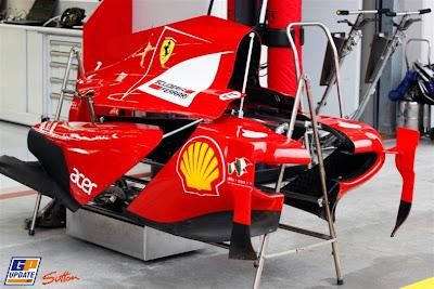 кожух двигателя Ferrari на Гран-при Турции 2011