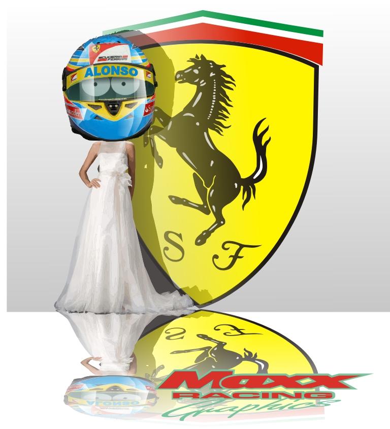 Фернандо Алонсо играет свадьбу с Ferrari Maxx Racing