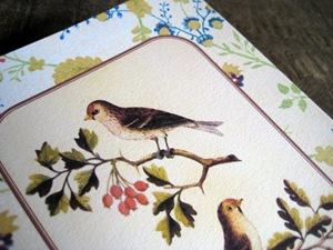 Birds & Acorns detail