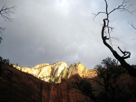 Golden peak at Zion