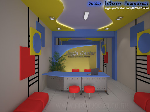  Desain Interior Resepsionis dan Ruang Kerja 