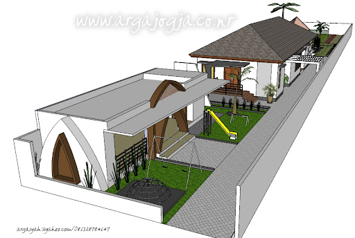 Desain Rumah Modern Minimalis Tropis Pada Lahan 11x80m  