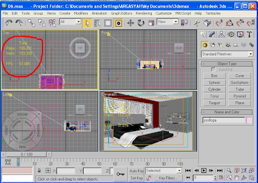 Tutorial Cara Menampilkan Jumlah Vertex, Poly dan FPS Pada Program 3Ds Max