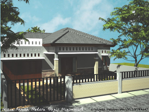  Desain Rumah Modern Tropis Minimalist LB/LL 120/276