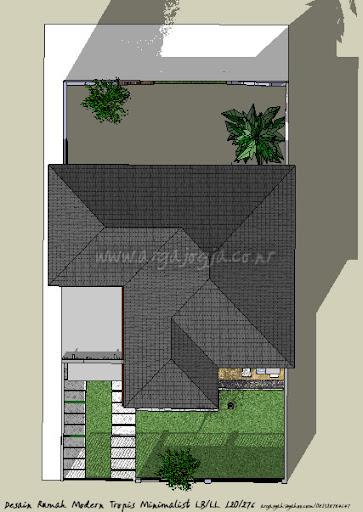 Desain Rumah Modern Tropis Minimalist LB/LL 120/276