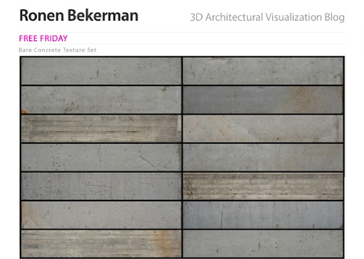 Download Gratis Material Bare Concrete Texture Set