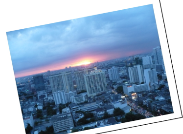 Bangkok sunset from my bedroom balcony