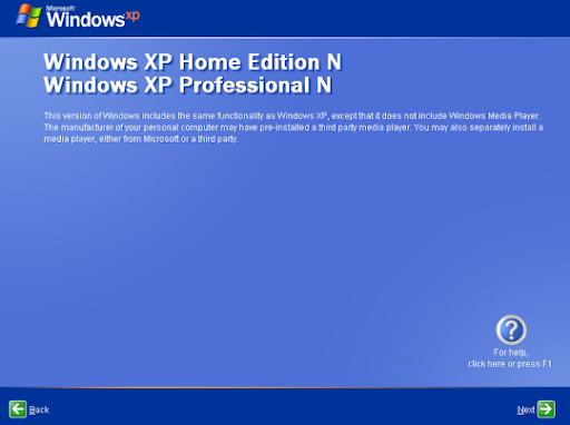 windows media player 12 for xp  without validation letter