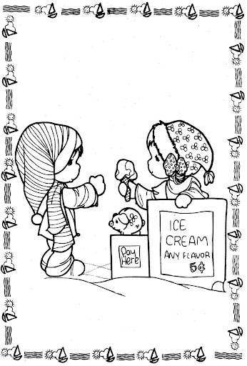 Snow – precious moments coloring pages