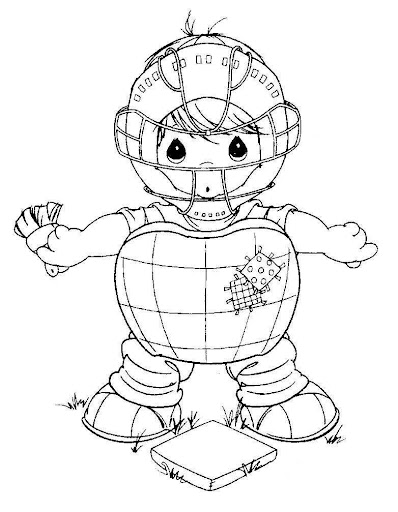 Catcher –  baseball coloring pages