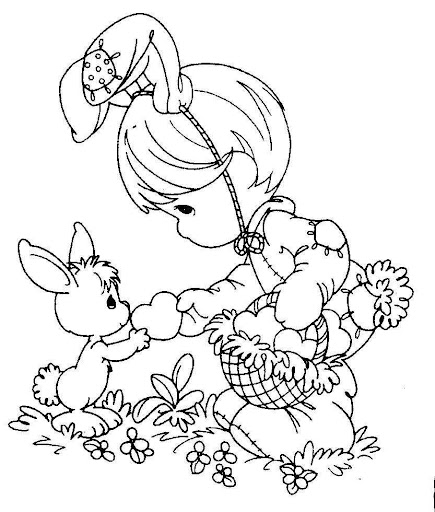 Easter  precious moments coloring pages