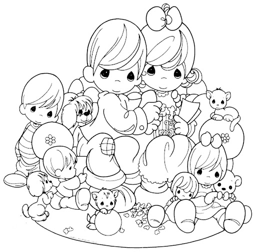 Family day coloring pages