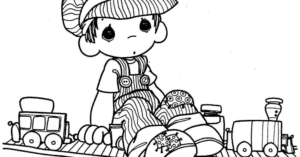 engineer precious moments  coloring page