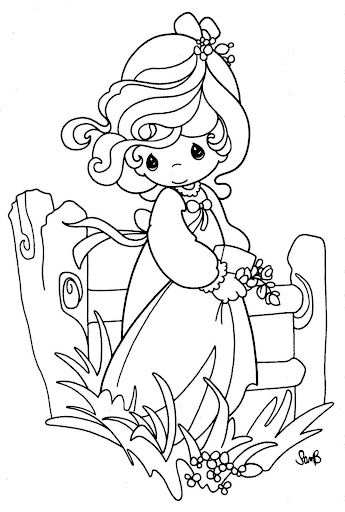 Girl in the field printables pages free