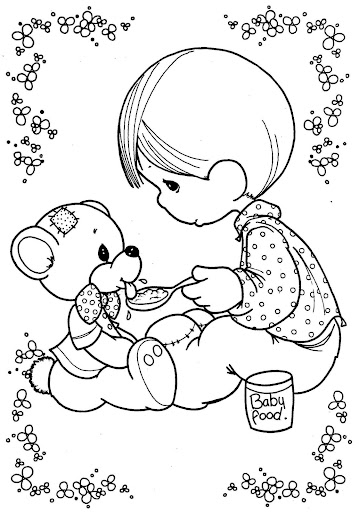 Kid and puppy coloring pages