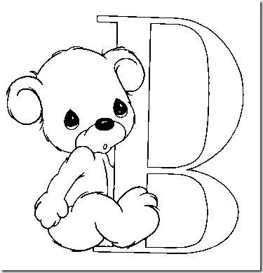 Alfabeto de los precious moments – dibujos para colorear