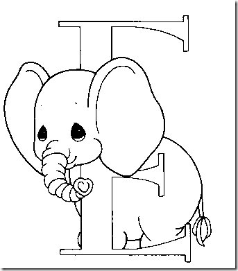 Alphabet Precious Moments Coloring pages