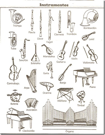 Muscial instruments coloring pages