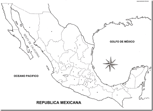 Coloring pages september 2009 for Mexico map coloring page