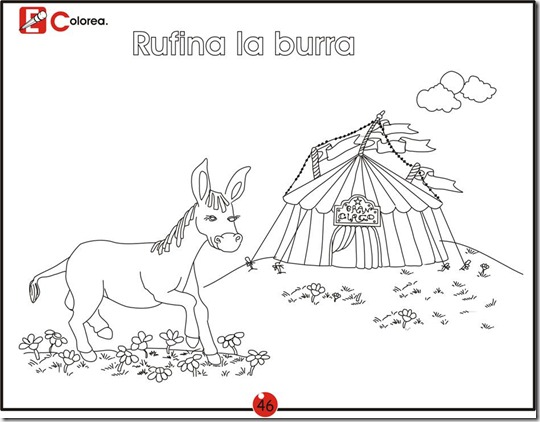 Rufina the donkey - free coloring pages