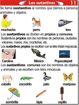 Los sustantivos – ejercicios de primaria