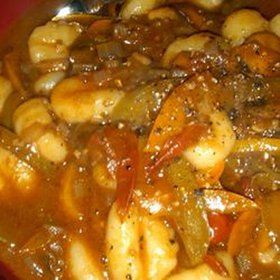 Gnocchi and Peppers in Balsamic Sauce