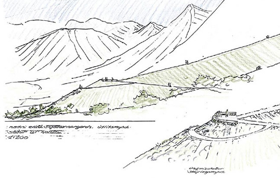 Avalance Defense Structures in Iceland