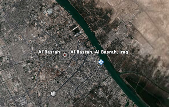 Basra on Google Earth