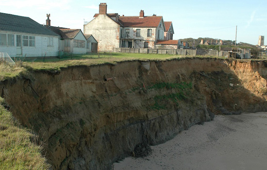 Climate ghetto: Happisburgh, Norfolk, England