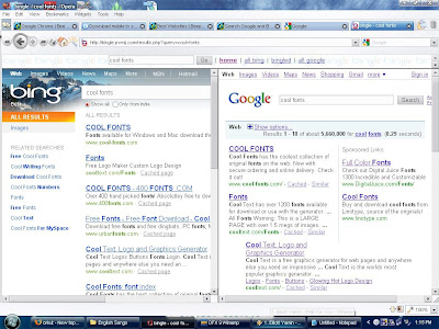 search da 2 search engines simultaneously i tried it and google is