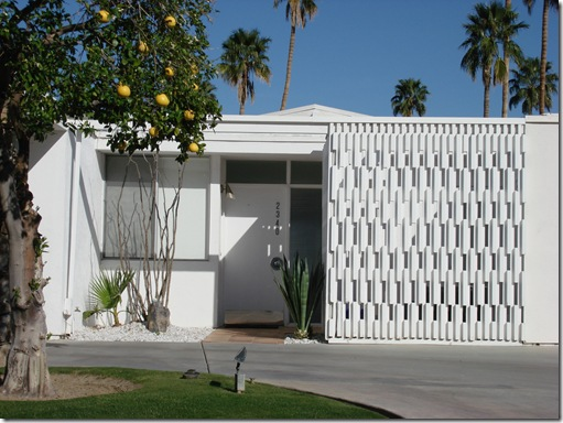 Palm Springs Modern Architecture and the Use of Screen Block