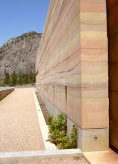 Rammed Earth Wall NK'MIP Winery Osoyoos