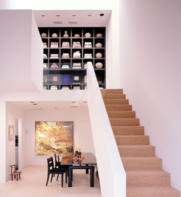 Bookshelves in Stairwells Wilson and Associates Architects 