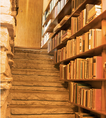 Bookshelves in Stairs