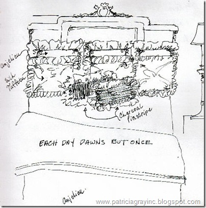 Interior Design Sketches Cushion Details