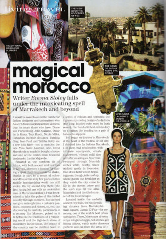 Flare Magazine Magical Morocco Page