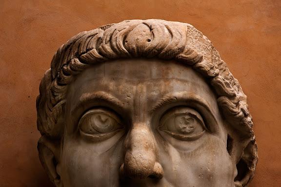 Estatua colosal de Constantino. Museos Capitolinos (Musei Capitolini)Roma, Italia.