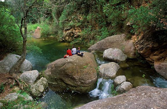 Riu Glorieta, el Niu de l'Àliga,Muntanyes de Prades,Alcover, Alt Camp, Tarragona2002.04
