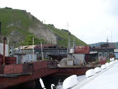 錆びついた港