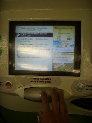 地下鉄のきっぷ券売機