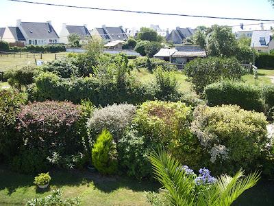ル・コンキのB&Bの庭